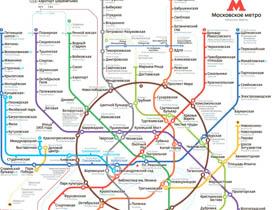 值得拥有!莫斯科地铁线路图(中俄双语)